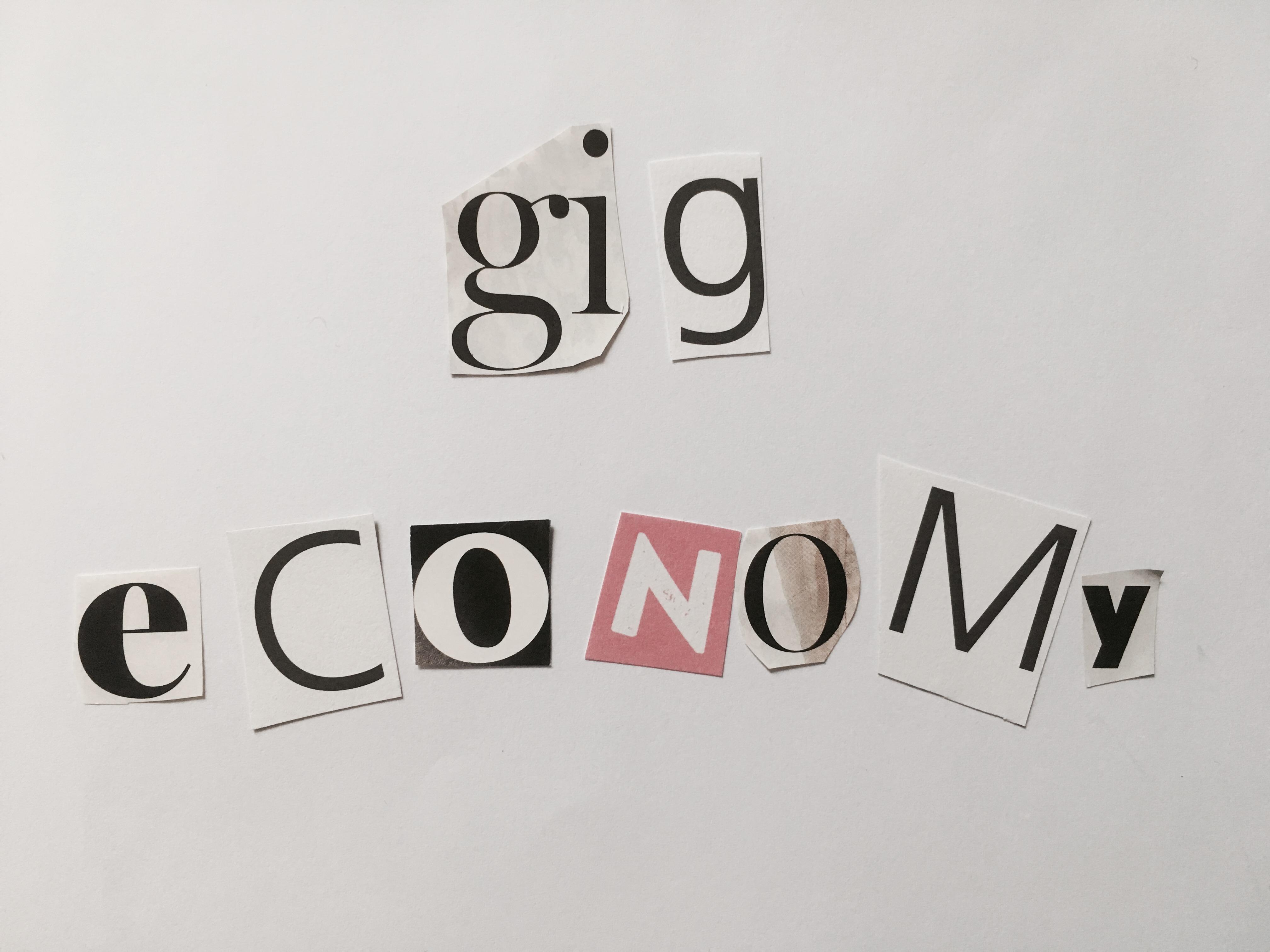 Glossary gig economy Collage